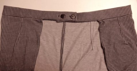 back detail, houndstooth jersey, V9191