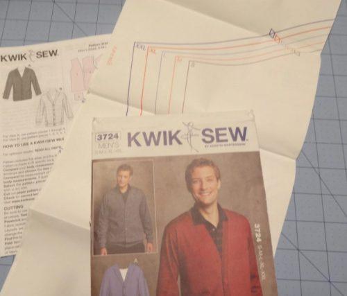 Kwik Sew men's cardigan sewing pattern 3724
