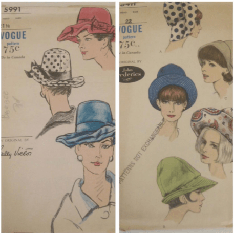 Vintage Vogue hat patterns