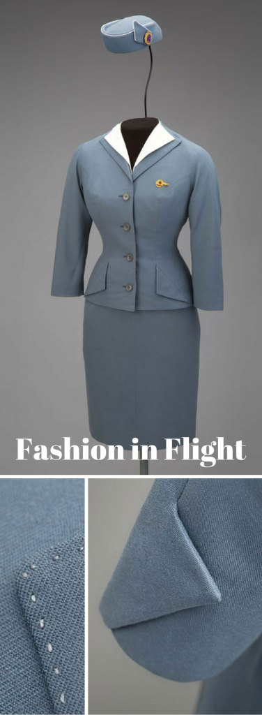 Pan American World Airways stewardess uniform by Don Loper 1959 Collection of SFO Museum, gift of Jane Luna Euler/Beatrice H. Springer/John J. Dunne (Photo credit: SFO Museum)