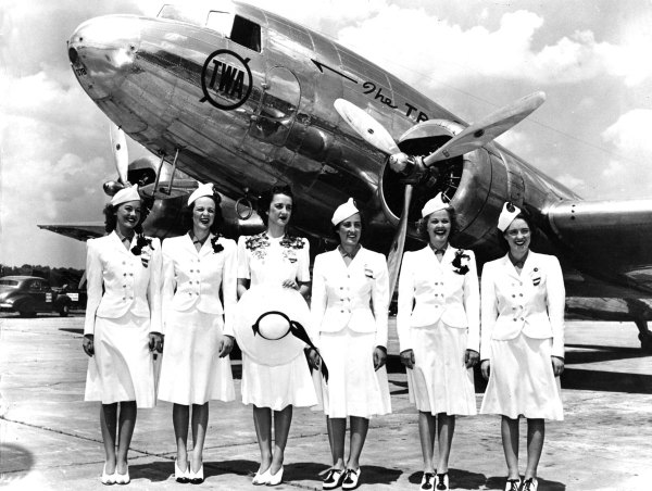 Transcontinental & Western Air hostesses 1939 Photo credit: SFO Museum/ TWA Clipped Wings International, Inc.