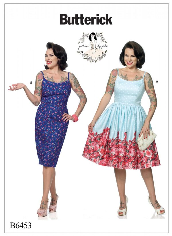 Butterick B6453 - Patterns by Gertie - Misses' Princess Seam Dresses with Straight or Gathered Skirt