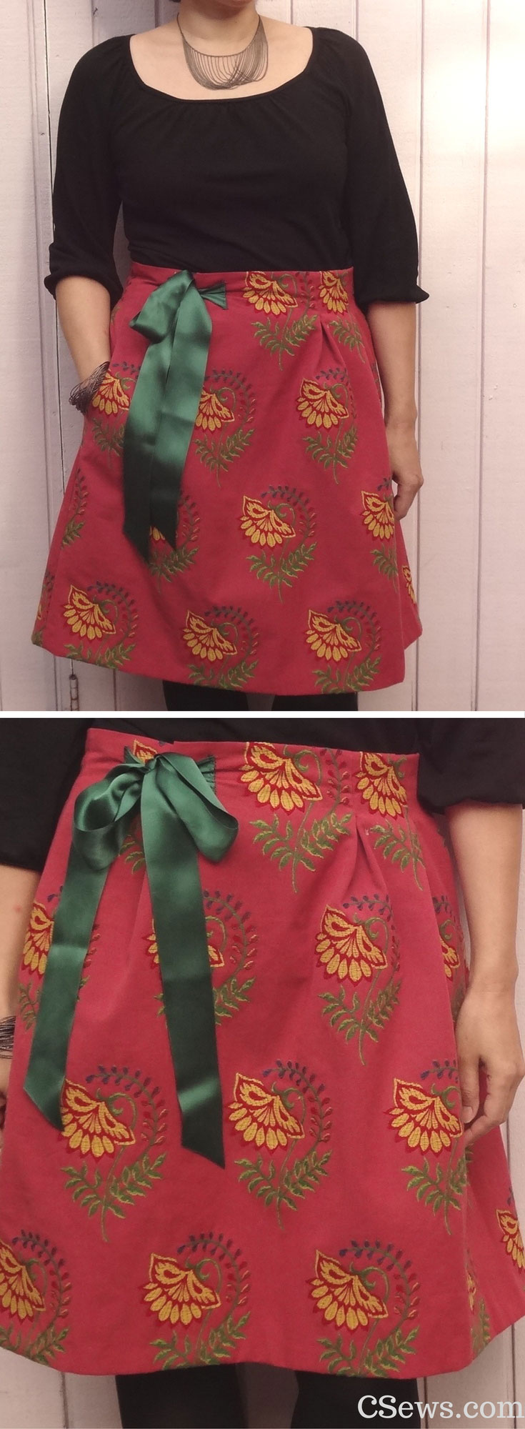 How to make an adjustable waist skirt - using the Chardon skirt sewing patterns by Deer and Doe