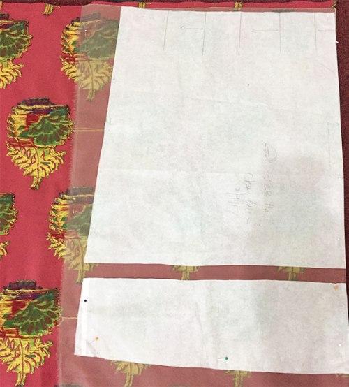Deer and Doe Chardon skirt - front pattern piece