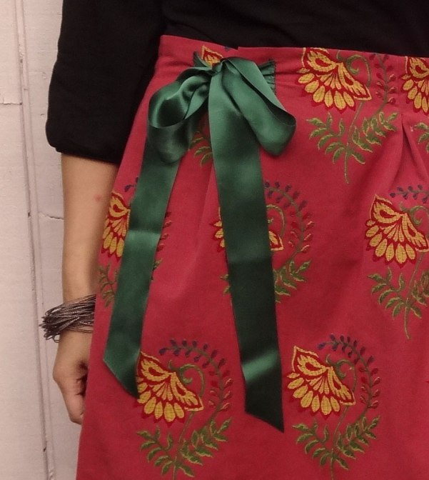 Adjustable waist skirt - ribbon
