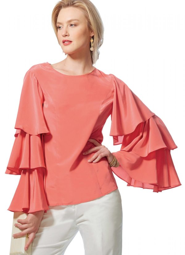 Vogue V9243 - sewing pattern - Misses' Princess Seam Tops with Flared Sleeve Variations