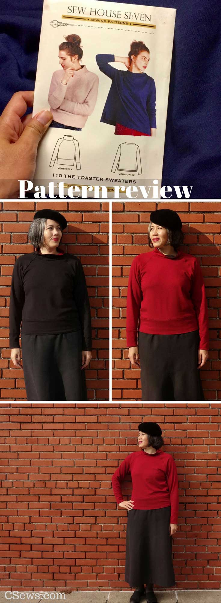 Pattern review - Toaster Sweater - Sew House Seven sewing pattern