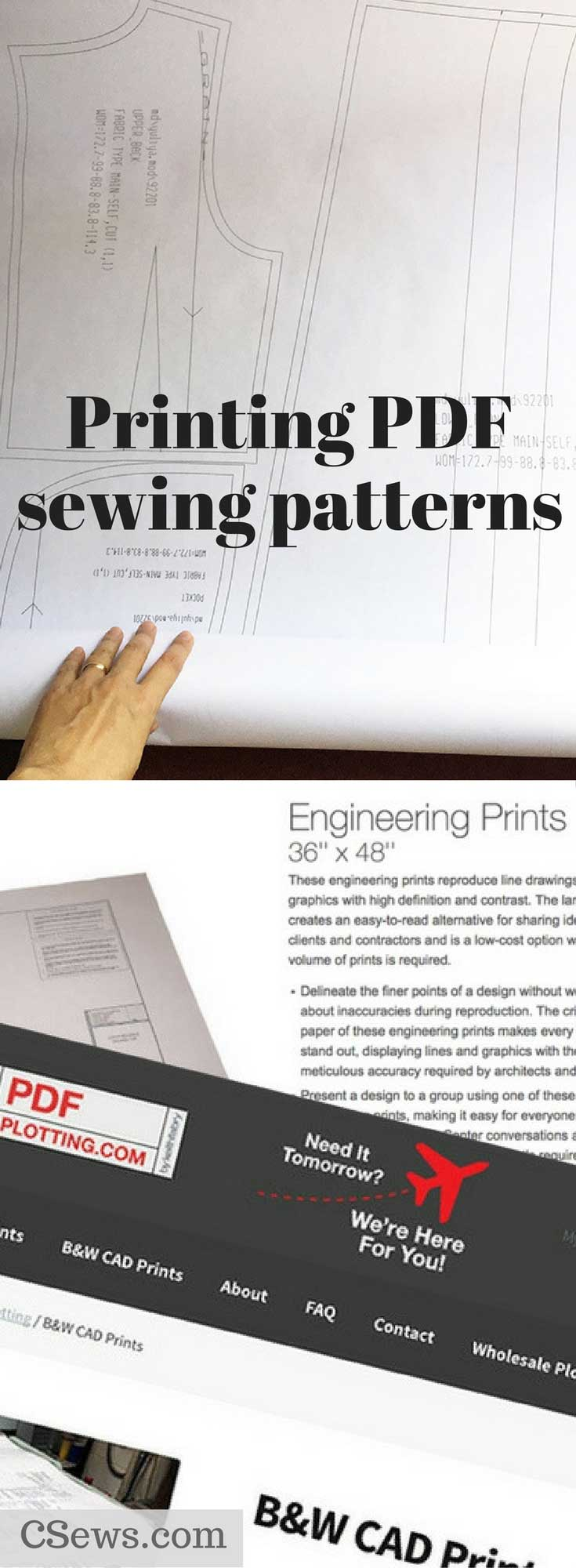 Printing PDF sewing patterns - here are some options in the U.S.