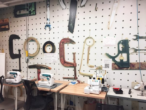 Sewing machines and sergers at Google Garage maker space