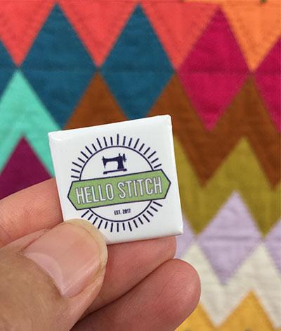 Hello Stitch pin