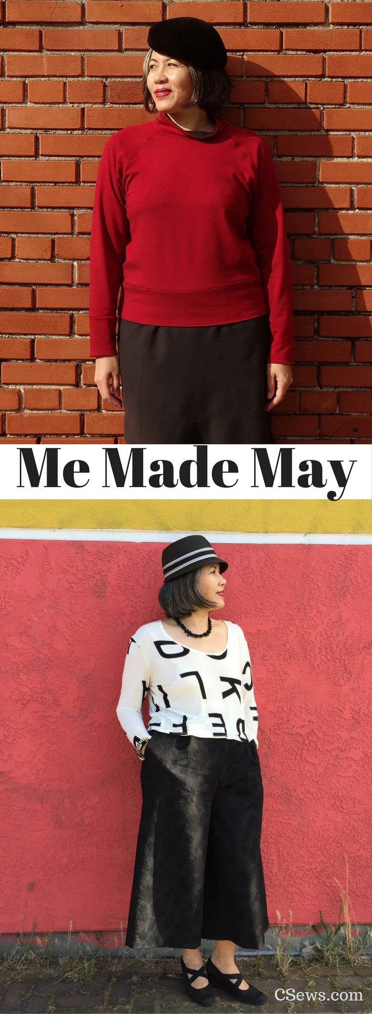 Me Made May - Toaster Sweater (Sew House Seven sewing pattern), Mimosa Culottes (Named Clothing sewing pattern) - CSews.com