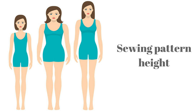 Sewing pattern height - what height patterns design for