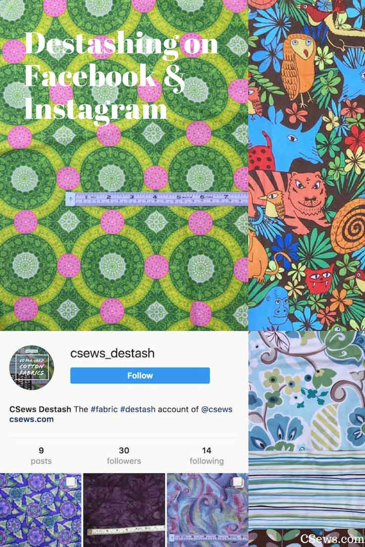 Destashing fabric on Facebook and Instagram - CSews