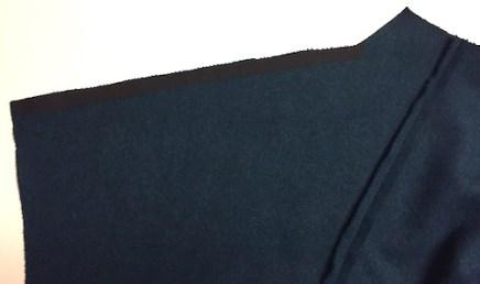 Sapporo Coat - wool melton - stay tape on shoulder seam - CSews