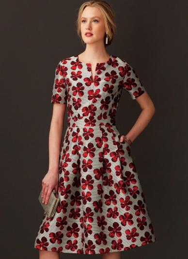 Fall sewing pattern - Vogue V9267 - dress with custom fitting options for bust
