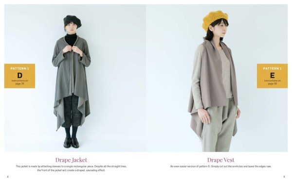 Stylish Wraps by Yohsiko Tsukiori - Drape jacket and vest