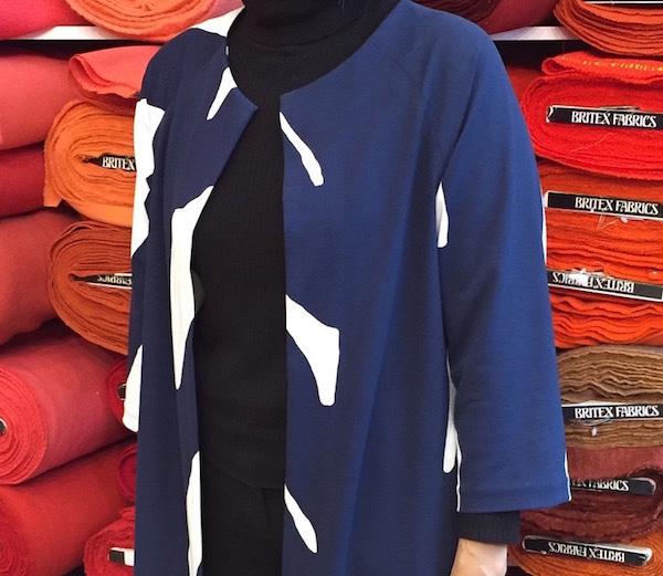Pilvi Coat pattern placement