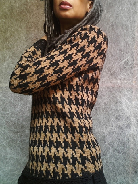 Double knit jacquard sweater by Olgalyn Jolly