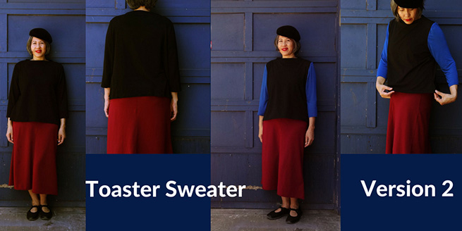 Toaster Sweater – Version 2 in French terry and jersey knit