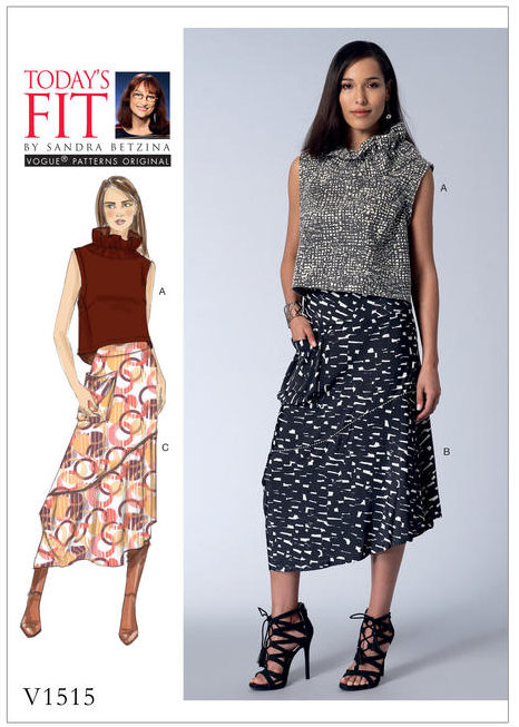 V1515 - Today's Fit by Sandra Betzina - Vogue sewing patterns - top and skirt