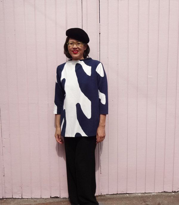 Toaster Sweater 2 - front view - big print ponte fabric - CSews.com