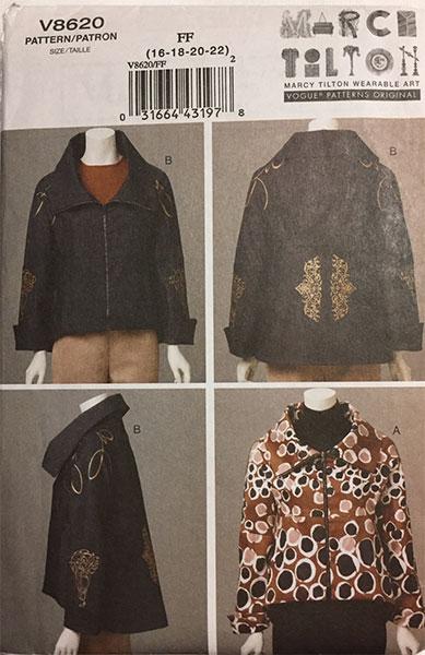 V8620 - Marcy Tilton Vogue sewing pattern - CSews.com