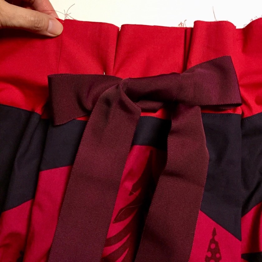 Ribbon tie for Frocktails skirt - Marimekko fabric - CSews.com