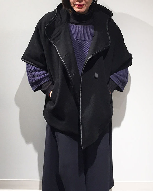 DKNY coat with covered buttons