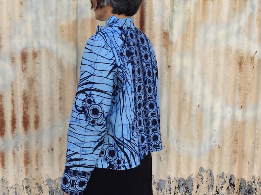 Side view of the Elastic Tie Sweater - pattern The Assembly Line - CSews.com