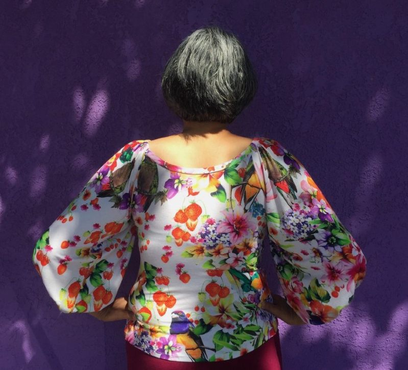 Back view - Adrienne Blouse - Friday Pattern company - CSews.com