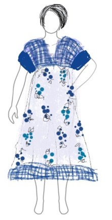 Sketch of Parasol Dress - CSews.com