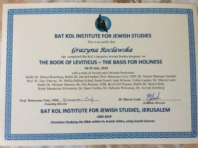 Certificate of Study