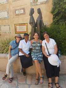 In the Church of Visitation in Ein Karem