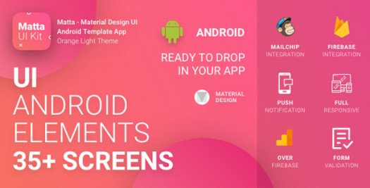 Material Design UI Android Template App - 27