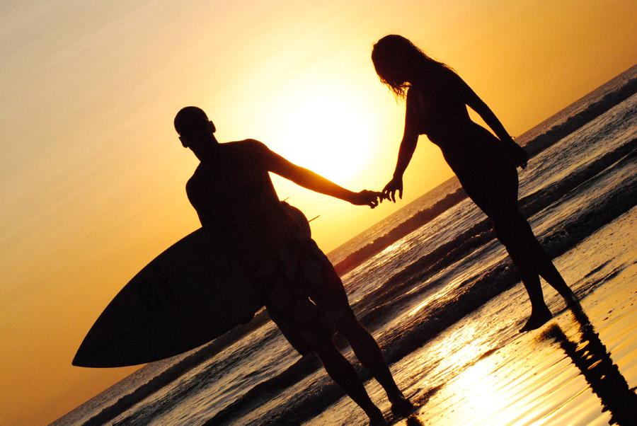 海,デート,楽しむ