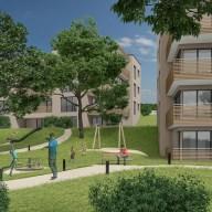 Umgebung einer Wohnueberbauung