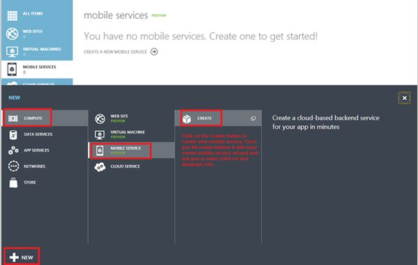 How To Use Mobile Service In HTMLJavaScript Application