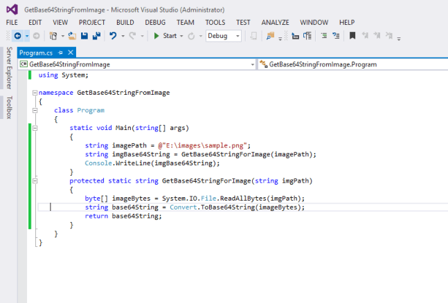 Get Base64 String From Image In C# - Vivek Kumar