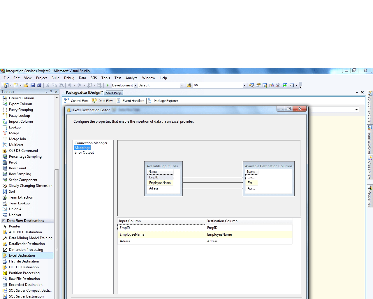 Import Data From Sql Server To Excel Using Ssis