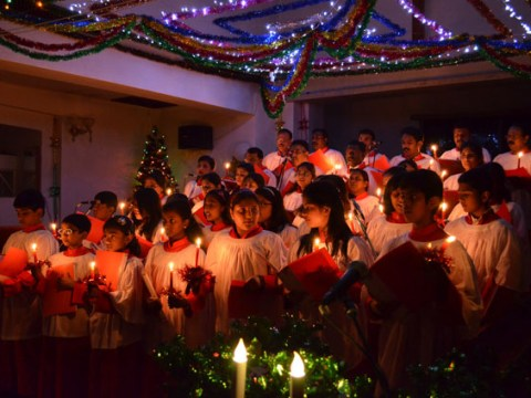 Choir singing Silent Night
