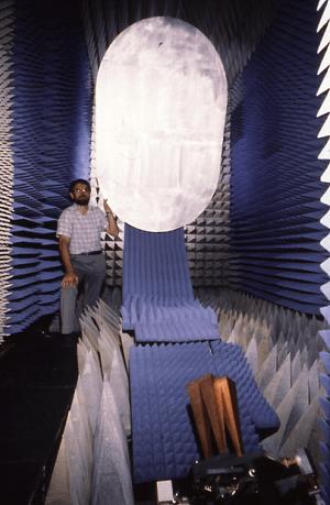 Prototype WA beam antenna system under test at CSIRO