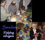 Helping refugees in Sweden