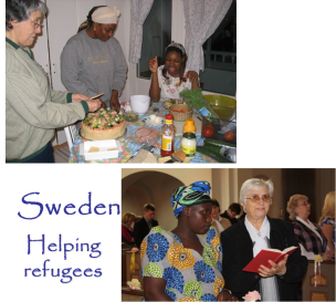Helping refugees in Sweden