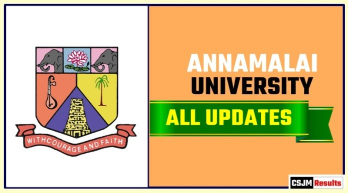 ANNAMALAI University Result Time Table Admit Card Admission