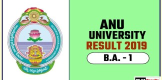 ANU BA 1st Year Result 2019