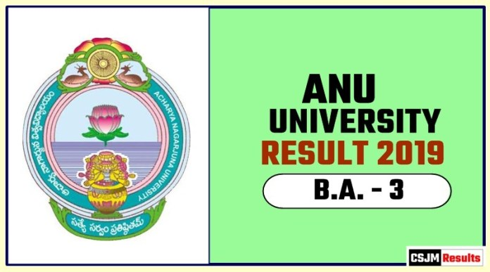ANU BA 3rd Year Result 2019
