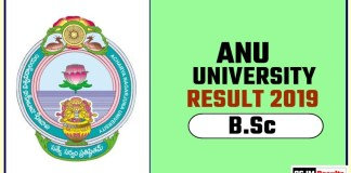 ANU BSc 1st 2nd 3rd Year Result 2019