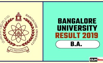 Banglore University BA 1st 2nd 3rd Year Result 2019