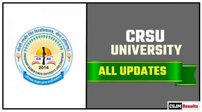 CRSU Result Time Table Admit Card Admission
