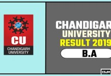 Chandigarh University [CU] BA 1st 2nd 3rd Year Result 2019
